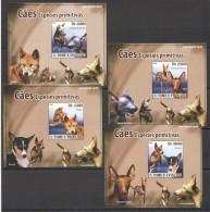 WW171 2008 S.TOME E PRINCIPE PETS DOGS CAES PRIMITIVAS !!! CARDBOARD 4LUX BL MNH