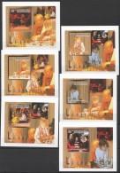WW177 2010 DE GUINEE SPORT CHESS LES ECHECS !!! CARDBOARD 6LUX BL MNH