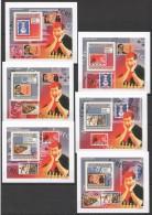 WW178 2009 DE GUINEE SPORT CHESS ECHECS !!! CARDBOARD 6LUX BL MNH