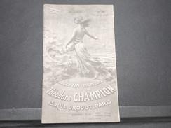 FRANCE - Bulletin Mensuel De La Maison Champion En 1935 - L 7983 - Cataloghi Di Case D'aste