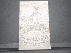 FRANCE - Bulletin Mensuel De La Maison Champion En 1935 - L 7984 - Catalogues For Auction Houses