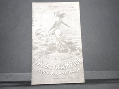 FRANCE - Bulletin Mensuel De La Maison Champion En 1935 - L 7986 - Cataloghi Di Case D'aste