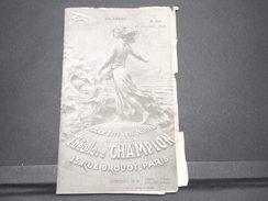 FRANCE - Bulletin Mensuel De La Maison Champion En 1935 - L 7987 - Catalogues For Auction Houses