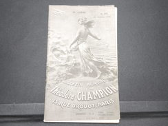 FRANCE - Bulletin Mensuel De La Maison Champion En 1936 - L 7988 - Catalogues For Auction Houses