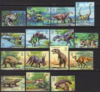 USA 1997 Prehistoric Animals Dinsaurs Set Of 15, MNH (SG 3285/99) - Unused Stamps