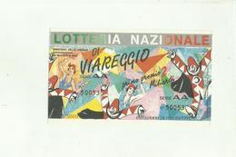 138203 CARNEVALE DI VIAREGGIO LOTTERIA 1991 - Altre Collezioni