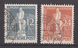 Berlin 1949 / MiNr. 35+37 O Used / 75 Jahre Weltpostverein