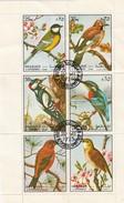 SHARJAH - BLOC DE 6 TIMBRES OISEAUX 1972 /  R229 - Birds