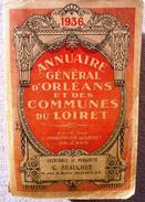 45 - Carte Postale - ANNUAIRE GENERAL ORLEANS ET COMMUNES DU LOIRET- 1936 - Bottin Genre Didot - Orleans
