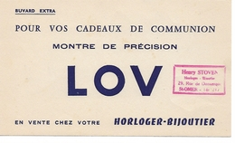 Buvard Pour Vos Cadeaux De Communion Montre De Précision Lov. Horloger Bijoutier. - Enfants
