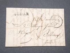 """FRANCE - Marque Postale """" 7 Sedan """" Sur Lettre Pour Bordeaux En 1828 - L 7998 - Marcophilie (Lettres)"""