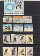 UMM AL QIWAIN - LOT DE TIMBRES OISEAUX  RAPACES PINGOUINS ET MANCHOTS  + BLOC 1971 /  R46 - Birds