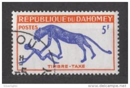 Dahomey (Benin) - Portomarke 1963 - MiNr. 34 O Used - Panther Und Mensch