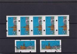 ATM N° 80 Bande De CINQ XX  Sans Indication De Valeur  + 2 Oblitérés - Franking Machines