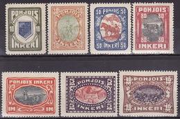 POHJOIS INKERI - NORDINGERMAN LAND Mi 8 -14 MLH VF LOOK SCAN - 1919 Occupation: Finland