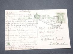 GRECE - Carte Postale Pour Londres En 1916 Avec Censure Militaire De Bologna - L 8006 - Grecia