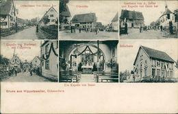 AK Wald Hippetsweiler Hohenzollern, Ortsstrasse, Ortsmitte, Gasthaus Zeller, Schulhaus, O 1913, Selten! (20370) - Duitsland