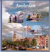 FRANCE- 2016- EUROPEAN CAPITALS- AMSTERDAM- BLOCK- MNH- Stadt Architektur- Architectuur Van Stad- Architecture De La Vil