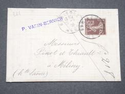 FRANCE - Type Semeuse Perforé VB Sur Lettre En 1909 De Bar Le Duc Pour Melisey - L 8009 - Perforés