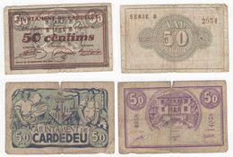 Ajuntament De Cardedeo. Lot Of Two. 1937. - Spain