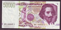 ITALIE - 50 000 LIRES G. L. Bernini - 27/05/1992 - [ 1] …-1946 : Royaume