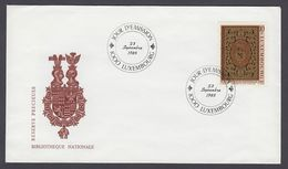 Luxemburg Luxembourg FDC 1985 - MiNr. 1137 - Nationalbibliothek - FDC