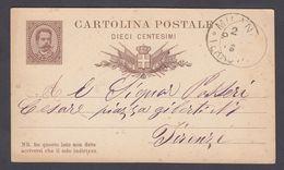 Italien - Postkarte - 1882 Mailand -> Florenz / Italia - Cartolina Postale - 1892 Milano -> Firenze