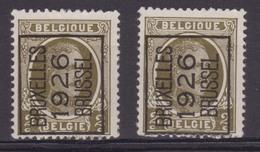 België/Belgique  Preo  Typo  2x N° 133A Bruxelles/Brussel 1926 V1a Luppi. - Préoblitérés