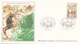 FRANCE FDC DU 5 SEPTEMBRE 1987 CAEN GUILLAUME LE CONQUERANT - FDC