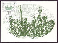 South-West Africa (SWA) - Maximum Card Of 1986 - MiNr. 583 - Diego Cão - Statement Of Padrão At Cape Cross