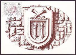 South-West Africa (SWA) - Maximum Card Of 1986 - MiNr. 584 - Diego Cão - Coat Of Arms Of Diego Cão