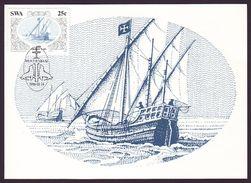 South-West Africa (SWA) - Maximum Card Of 1986 - MiNr. 585 - Diego Cão - Portuguese Caravels