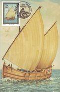 South-West Africa (SWA) - Maximum Card Of 1988 - MiNr. 618 - Sea Travel Of Bartholomeu Diaz To Africa - Caravel