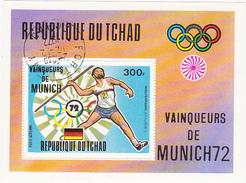 Jeux Olympiques - Eté 1972 - Munich / REPUBLIQUE DU TCHAD 300 F. / Vainqueurs De Munich (Javelot) WOLFERMANN R.F.A.