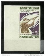 ANDORRA- SELLO SIN DENTAR CORREO FRANCES EMISION MUY LIMITADA M.ABAD. Nº 256