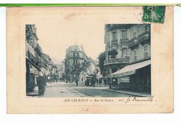 CPA-73-1910-AIX-les-BAINS-RUE DE GENEVE-ANIMEE-PERSONNAGES-MAGASINS-GRAND CAFE DE LYON-COIFFEUR- - Aix Les Bains