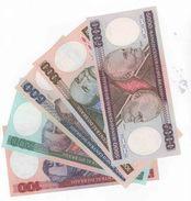 Brasil, Lot Of 5 Notes. 5000, 1000, 500, 200 And 100 Cruzeiros. UNC. - Brésil