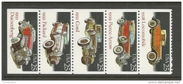 US  1988   Sc#2385a   25c Classic Autos Strip Of 5 MNH** - United States