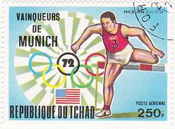Jeux Olympiques - Eté 1972 - Munich / REPUBLIQUE DU TCHAD 250 F. / MILBJRN (EU) / Saut De Haie