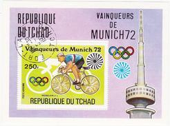 Jeux Olympiques - Eté 1972 - Munich / REPUBLIQUE DU TCHAD 250 F. / MORELON (FR) / Cyclisme