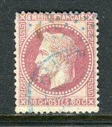 Rare N° 32 Cachet à Date Bleu & Etoile Bleue De Paris - 1863-1870 Napoléon III Lauré