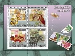 S. TOME & PRINCIPE 2008 - Animals On Banknotes - YT 2764-7 - Münzen