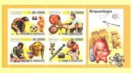 S. TOME & PRINCIPE 2008 - Archaeology, Coins - YT 2796-9, Mi 3672-5, Sc 1894 - Münzen