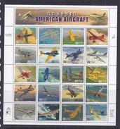 USA 32 Cent  American  Aircraft - Vliegtuigen - Feuilles Complètes