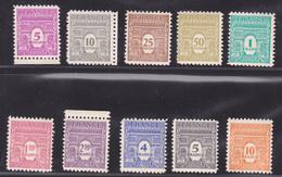 FRANCE N°  620 à 629 Timbres Neufs Avec Défauts, (lot D1629) - 1944-45 Arc De Triomphe