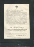 Douai Déces De Mr Thomas Emile Louis Enlart De Guémy 15/03/1907 -  Malc8403 - Décès