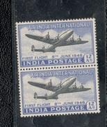 India1948: Michel186mnh** Pair