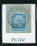 DEUTSCHE DIENSPOST-BÖHMEN-MÄHREN PILSEN 24. 7.40 Briefstück Mit MiNr. 521 - Occupation 1938-45