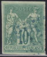 YT32 Sage 10c Vert - Losange Bleu - Sage