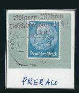 DEUTSCHE DIENSPOST-BÖHMEN-MÄHREN PRERAU 09.40 Briefstück Mit MiNr. 521 - Occupation 1938-45